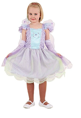 Flieder Prinzessin Kind Kostüm - O5102-140 flieder Kinder Schmetterlings Kostüm Elfen