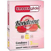 Smoothglide Kondome Rot mit Erdbeeraroma Gefühlsecht Made in Germany 3 Stück 54mm breit preisvergleich bei billige-tabletten.eu