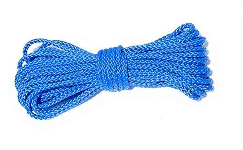 Viva Nature Polypropylen Seil\ PP Seil \ 6 mm Flechtleine Polypropylenseil Tau Festmacher Schnur Tauwerk Universalseil (Hellblau 10 m)