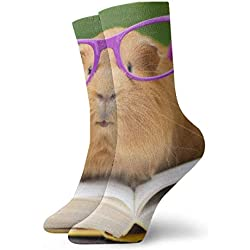 shizh Lindo nerd hámster Calcetines casuales transpirables Calcetines deportivos de viaje Yoga Caminar Ciclismo Correr Fútbol 30cm