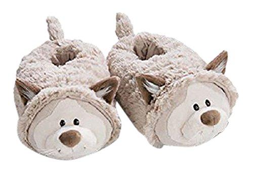 (Nici 40935.0 - Hausschuhe Winter - Schneekatze Junge figürlich, Größe: 34-37 cm (M))