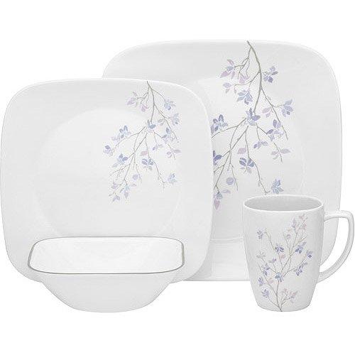 corelle-service-de-table-pour-4-personnes-16-pieces-en-verre-vitrelle-motif-jacaranda-violet