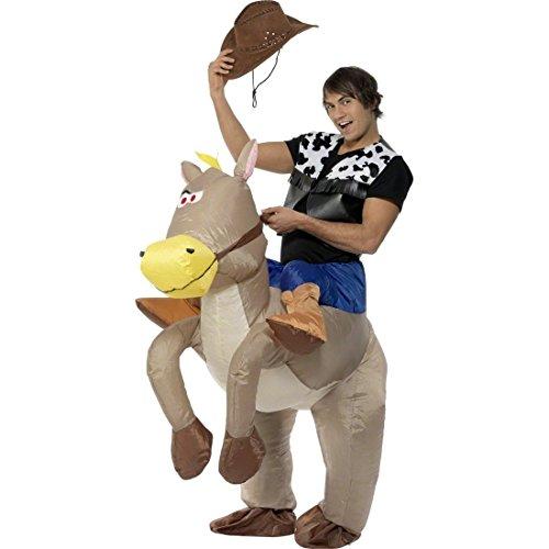 Traje inflable para vaquero accesorios caballo hinchable