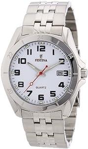 Reloj Festina F16278/7 de cuarzo para hombre con correa de acero inoxidable, color plateado de Festina