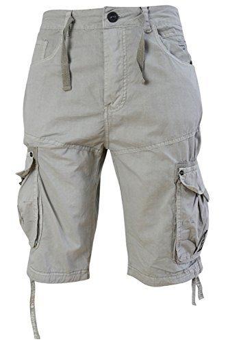 hommes-crosshatch-oprah-serge-boutonne-short-militaire-longueur-genou-pantalon-combat-gris-willow-44