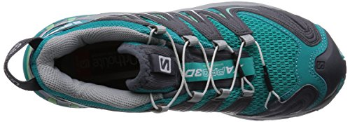 Salomon XA Pro 3D, Chaussures de randonnée femme Turquoise - Türkis (Teal Blue F/Dark Cloud/Lucite Green)