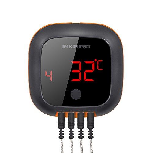 Inkbird IBT-4XS Bluetooth Magnet Drehbarer Barbecue Grillthermometer (4 * IBT-4XS Sonden)