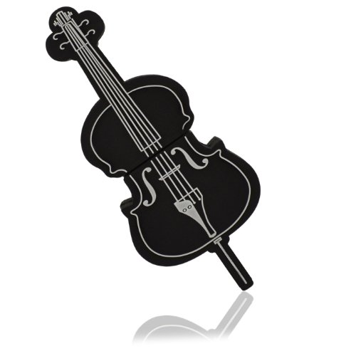 818-shop no16300020008 hi-speed 2.0 usb pendrive 8gb strumento musicale violino violoncello nero