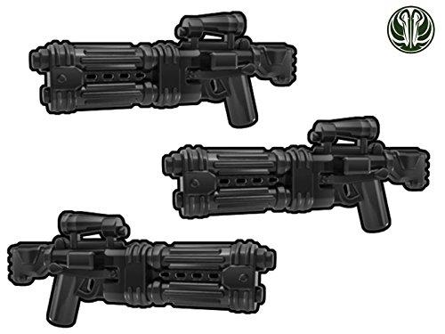 3X E-22 Blaster Gewehr mit doppeltem Lauf - Custom Waffen für Lego Star Wars Figuren -schwarz- - Wars Star Lego Custom