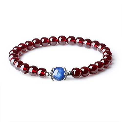 womens-and-girls-natural-semi-precious-stones-garnet-kyanite-healing-birthstones-bracelets-6mm