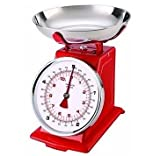 Hairy Bikers Mechanical Kitchen Scale Red