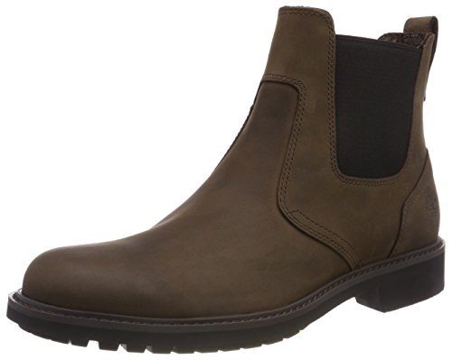Timberland Stormbucks Chelsea Waterproof Pull-on, Stivali Chukka Uomo, Marrone (Burnished Dark Brown Oiled), 39.5 EU
