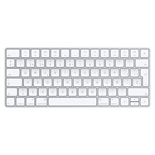 Apple Magic Bluetooth QWERTY Spanisch Weiß Tastatur - Tastaturen (Mini, Kabellos, Bluetooth, QWERTY, Weiß)