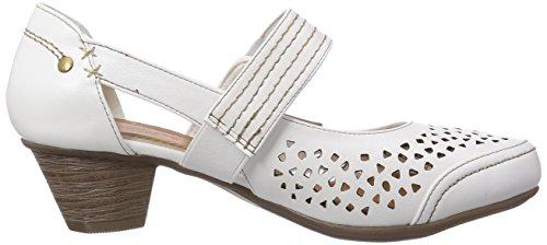 Jane Klain 223 712, Chaussures à talons - Avant du pieds couvert femme Blanc - Blanc (107)