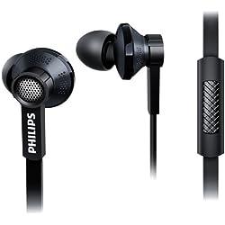 Philips TX1BK/00 Ecouteurs intra-auriculaires avec isolation phonique + Micro intégré Noir