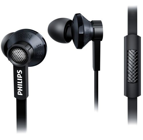 Philips TX1BK/00 In-Ear Kopfhörer mit Mikrofon schwarz