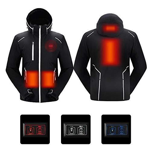 Hotwinter tuta da sci invernale uomo giacca con cappuccio riscaldata usb abbigliamento elettrico da uomo cappotto da snowboard termico impermeabile antivento traspirante da esterno xl