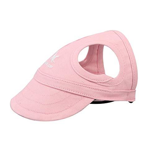 Sombrero para Perro Y Adulto Al Aire Libre, Gorra De Vaquero De Verano para Protección Solar para Actividades para Perros Pequeños, Medianos Y Grandes (Rosa, S Diámetro Interior:3 cm / 1.18')