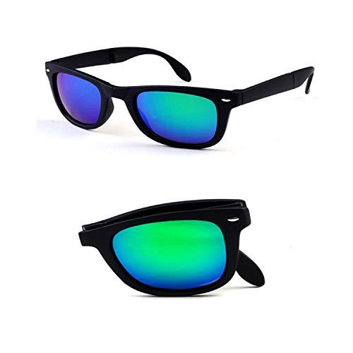Vikimen Sports Eyewear, 8 Colors Folding Sunglasses Man Women Brand Design Folded Eyewear With Original BOX Foldable Glasses Unisex Sun Glasses Mirrored Black Green no box