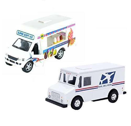 pullback-action-ice-cream-vending-truck-with-usps-truck-2-trucks-ice-cream-usps-by-kinsfun