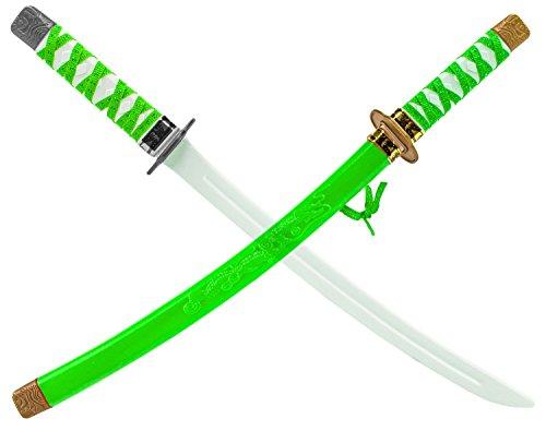 Katana KINDER NINJA Samurai Schwert Kostüm Säbel Dolch Grün (Samurai Kostüme Kinder Für)