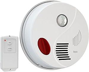 iiquu Sensor Alarm Decke; Bewegungsmelder Alarm mit Fernbedienung und zusätzlicher Türgong-Funktion