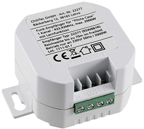 Funk-Empfänger Pilota Casa 1-Kanal 230V Universal einsetzbar LED bis 300 Watt 30m Reichweite 49x49x25mm
