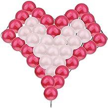 40pcs Globos con Forma de Corazón Modelado Rejilla Boda del Partido del Suministro de Decoración - blanco+rojo, 20+24+1