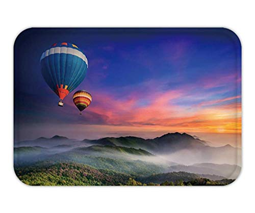 Doormat DOI Inthanon National Park in The Sunrise and Main Road at Chiang Mai Province, Thailand_ 15.7X23.6 Inches/40X60cm -