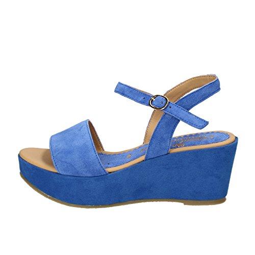 DAVID HARON sandali donna 35 EU blu camoscio AE33