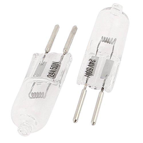G5 Base (sourcingmap® 2Stk G5,3 Bi-Stit Base Halogen Ersatz Indikator elektrische Glühbirne 24V 50W de)