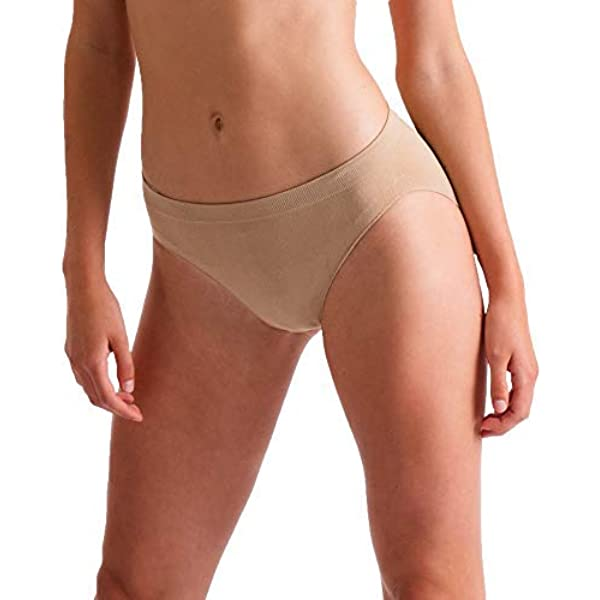 SILKY LADIES DANCE Seamless Ballet High Cut Briefs UnderwearKnickers Nude Flesh