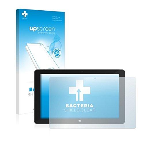 upscreen Bacteria Shield Clear Bildschirmschutz Schutzfolie für TrekStor SurfTab Duo W3 (antibakterieller Schutz, hochtransparent)