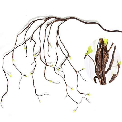 Mingzuo Künstliche Pflanzen Simulation künstliche Zweige Blumen Ranken Handarbeit Girlande Blätter Hängende Girlande Hochzeit Zuhause Hintergrund Bogen Wanddekoration -
