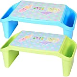 Siby Plastic Multi-Purpose Lap Tray - 1pc (Design May Very) (Multi Color)