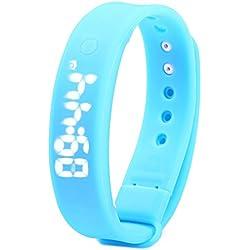 Leopard Shop TVG KM - 133 Multifunctional Unisex Sport Wristwatch Digital Watch LED Display Alarm Calendar Temperature Detecting Magnetic Blue