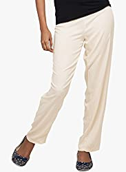 Light Beige-Palazzo Pants Large