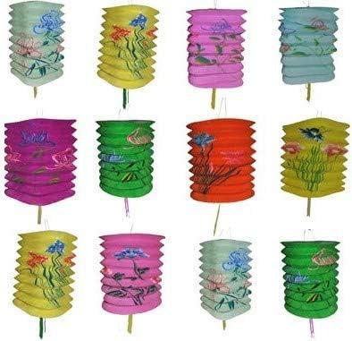 COOLMP Lot 6 de 6 - Lot de 6 Lot lampions cylindrique Motifs 16x28cm Mix 6e273f