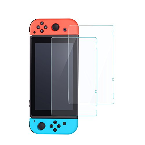 Price comparison product image Nintendo Switch Screen Protector - Anker GlassGuard Premium Tempered Glass Screen Protector for Nintendo Switch [2-Pack]
