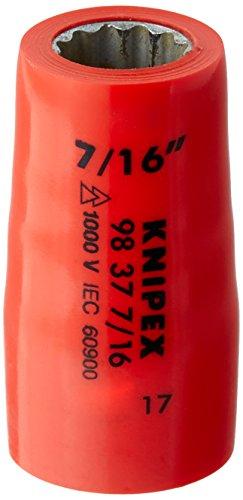 Knipex 98 37 7/16 Steckschlüsseleinsatz 3/8 Zoll, Länge in mm: 43, 1 Stück