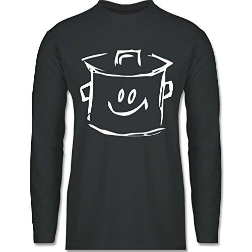 Küche - Kochtopf - Longsleeve / langärmeliges T-Shirt für Herren Anthrazit