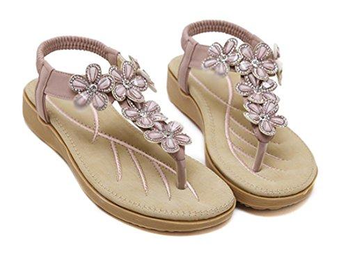 sandales d'été fleurs diamant sandales Mme pantoufles Purple