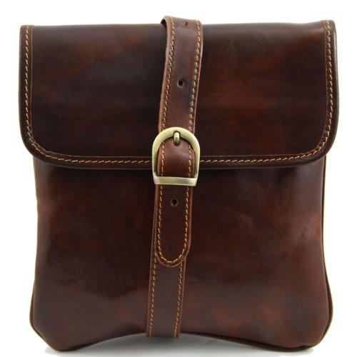 Tuscany Leather Joe - Borsello in pelle a tracolla Testa di Moro Borse uomo in pelle Marrone