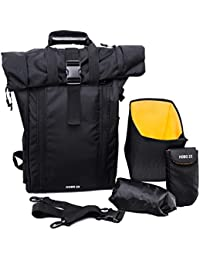 b29d5bafb0b LTP Designs CarryPro HOBO25 Rolltop Laptop Backpack with Rain Cover, Pouch,  Waist Belt and