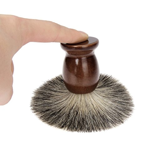 Amcool Rasierpinsel,Herren New Arrivals Rasierpinsel Reise Dachshaar Set Rasieren Bart Bürste Shaving Brush (102mm, Braun)