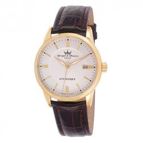 Orologio automatico Yonger & Bresson Uomo Bianca Pelle Marrone–YBH 8373/03