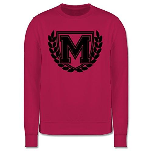 Anfangsbuchstaben - M Collegestyle - Herren Premium Pullover Fuchsia