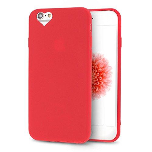 iPhone 6S Plus Hülle, iPhone 6 Plus Silikon Schutzhülle, Anfire Candy Handy Case Hülle für Apple iPhone 6S Plus / 6 Plus (5.5 Zoll) Liebe Herz Muster Weich TPU Silikon Schutzhülle Schön Muster Schale  Rote