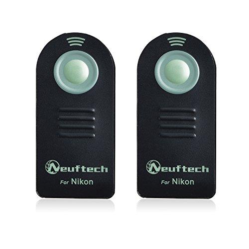 Neuftech2pcs Infrarot Fernauslöser Mini Fernbedienung für Nikon D610/D600/D90/D80/D70/D70s/D60/D40x/D3000/D3200/D3300/D5000/D5100/D5300/D7000/D7100/Coolpix 8800/8400/P6000/Film SLR F75/F65/wie ML-L3