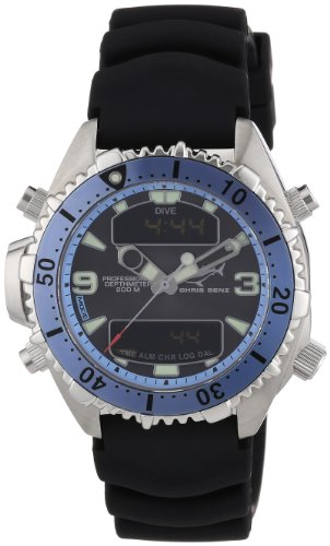 Chris Benz Men's Quartz Watch CB-D-LIGHTBLUE-KB with Rubber Strap